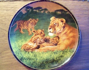 Limited Edition Bradford Exchange Nature's Caress Collection Plate. Circa 1996