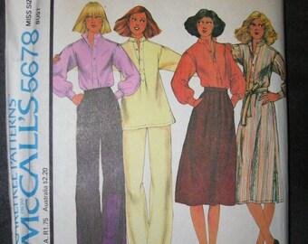 1970s McCalls Carefree Coordinates 5678 size 10