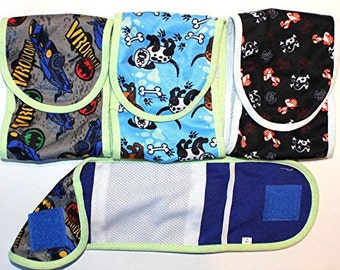 SET - 3pcs Dog Puppy Diaper MALE Boy Belly Band Reusable Washable for SMALL Dog Breeds Patterns #2