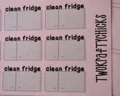 15 Clean Fridge Planner Stickers