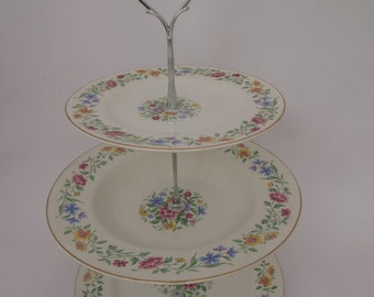 Bright Floral 3 tier Cake Stand
