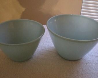 Fire King Turquoise Splash Proof Nesting Mixing Bowls