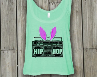 Hip Hop. Easter basket. Easter dress. Easter shirts. Easter tank top. Bunny ears. Teen Easter. Graphic tee for women for teens for girls.