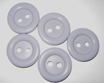 Light Gray/Grey Extra Large 2 Hole Buttons, 1-1/4""