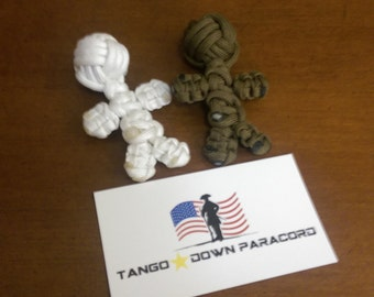 Paracord voodoo doll keychain