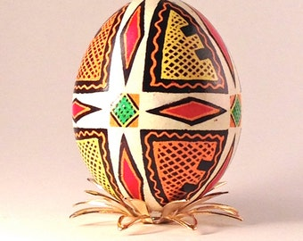 Cross Pysanka Egg