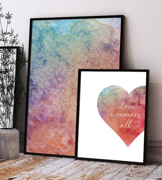Love conquers all digital download wall art print