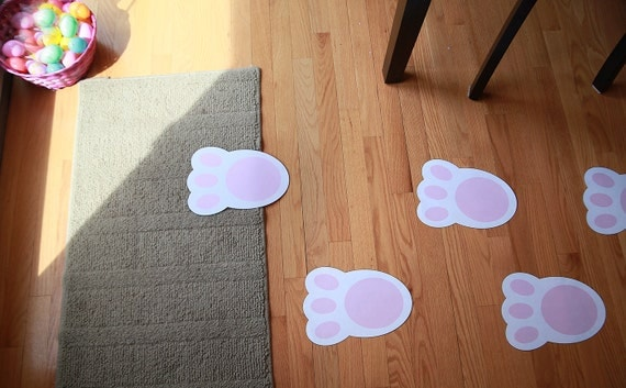 bunny feet template printable - easter bunny feet printable instant download digital pdf