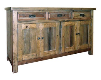 Buffet, Sideboard, Reclaimed Wood, Server, Vintage and Rustic, Handmade