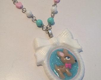 Deer Cameo Necklace