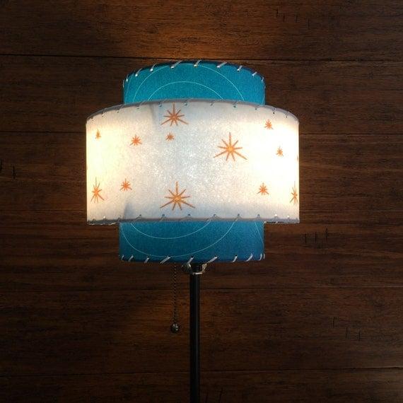 mid century modern style fiberglass lamp shade atomic lighting 3t 58 0. Black Bedroom Furniture Sets. Home Design Ideas