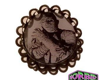 Universal Monsters The Mummy Bronze/Antique Tone Horror Badge/Brooch