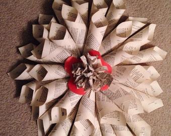 Medium Basic Page Wreath (with Orange Flair)