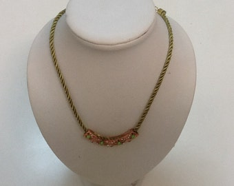 Green cord necklace
