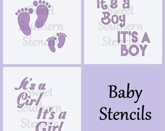 Baby Stencils (3 separate stencils)