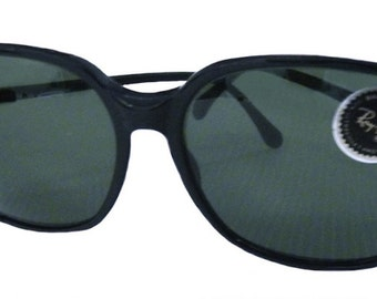 Vintage Ray-Ban W0342 Large Sunglasses Black Bausch Lomb Lenses NOS Authentic