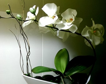Phalaenopsis silk orchid arrangement, artificial orchid floral arrangement phalaenopsis orchid arrangement, best quality orchid arrangement