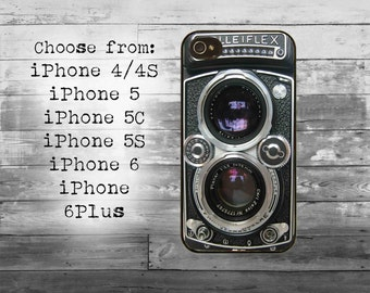 Vintage photo camera phone cover - iPhone 4/4S, iPhone 5/5S/5C, iPhone 6/6+, iPhone 6s/6s Plus case - camera lens iPhone case