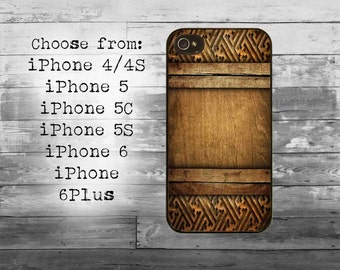 Wood carving phone cover - iPhone 4/4S, iPhone 5/5S/5C, iPhone 6/6+, iPhone 6s/6s Plus case - wooden iPhone case