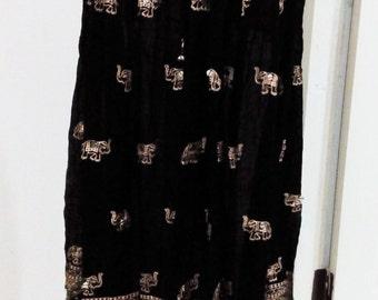 Hippie Boho Gypsy LONG Skirt free Size MAXI VINTAGE Best style Summer vintage handmade Elephant