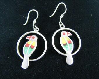 Vibrant Mexican Bird Earrings