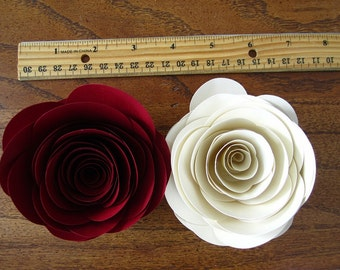 Oversized Paper Roses