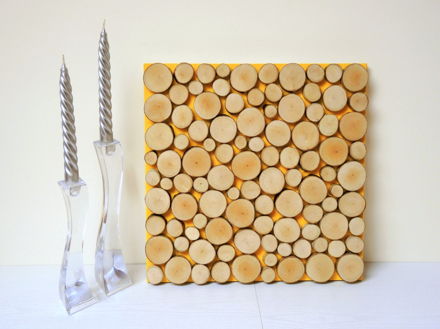 Rustic Wood Slice Sculpture Wall Art Abstract Tree - Wood Slice Wall ...