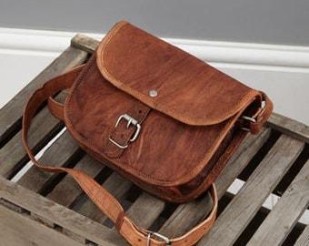 Leather Shoulder Bag By Vida Vida