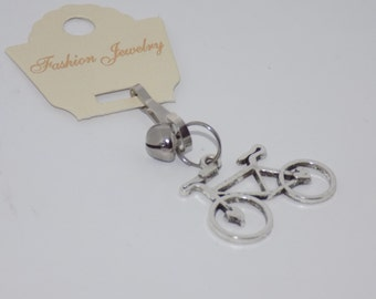 Bicycle Charm KeyChain/KeyRing and Bell -Bicycle Jewelry