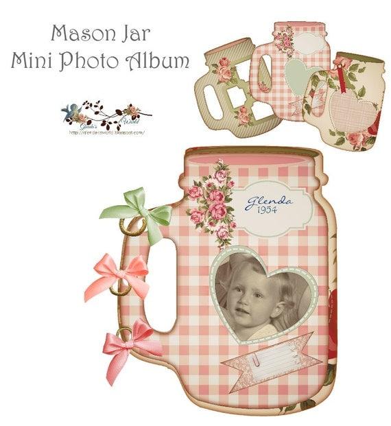 Mason Jar Mini Photo Album Set 1