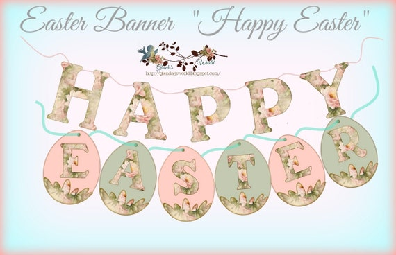 Happy Easter Eggs Banner