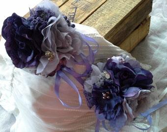 Vintage Inspired Flower Girl Posy's