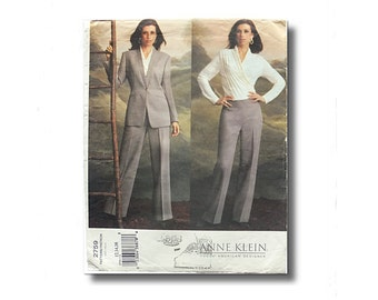 Vogue american designer, 3pc pant suit sewing pattern, jacket pants and blouse, uncut paper pattern, Bust 34,36, 38