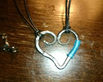 Blacksmith Heart Necklace