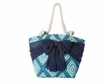 Mudpie Beach Tote Blue Native Diamond