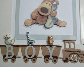 Baby boy train frame new baby baby girl
