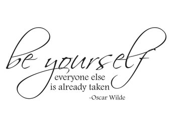 Oscar Wilde - Be Yourself - Vinyl Wall Decal