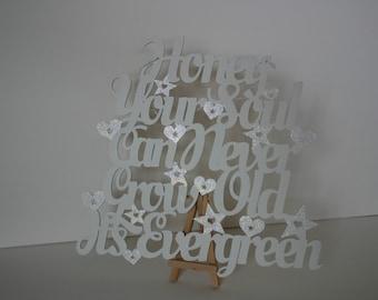 Beautiful wooden hanging sign - Ed Sheeran Lyrics