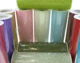 "6"" Glitter Tulle Roll - (10 Yards) - Free Shipping!"