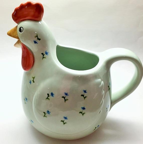 Dazey Fruit Juicer ~ Vintage otagiri omc japan hand painted hen chicken by