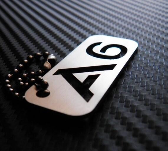 Audi A6 Keychain key tag