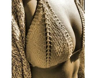 knit bikini top