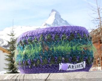 REDUZIERT! Ski Stirnband, Ohrenwärmer, gutes, haltbares Material. Winddichtes Futter aus Polarfleece. Earwarmer, crocheted. Bandeau du laine