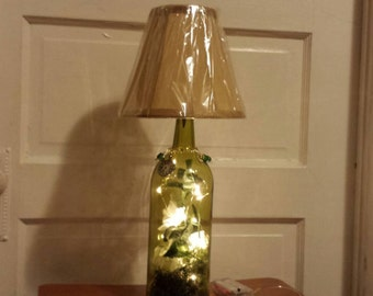 Beautiful wine bottle lamp