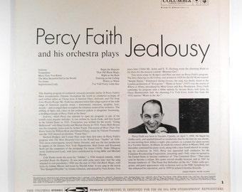 Percy Faith & Orchestra Jealousy 1960 Vintage LP Vinyl