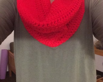 Red Cowl Neck Scarf
