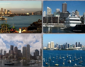 "Boats and Harbors Photography,""Harbor View Collection"" Prints, San Diego Photo, Boston Photo, Aukland Harbor, Sidney Harbor, Travel Wall Art"