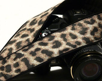 Cheetah Camera Strap. Leopard Camera Strap. DSLR Camera Strap. Camera Accessories