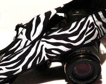 Zebra Camera Strap. Zebra Print Camera Strap.. DSLR Camera Strap. Camera Accessories