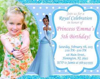 Princess Tiana Invitation Birthday Party